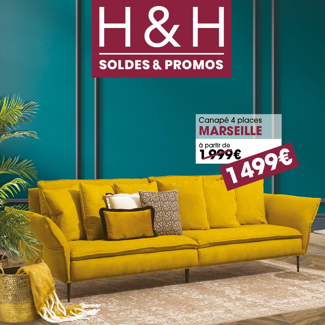 C Est Les Soldes Chez H H En 2020 Promo Canape Mobilier De Salon Soldes