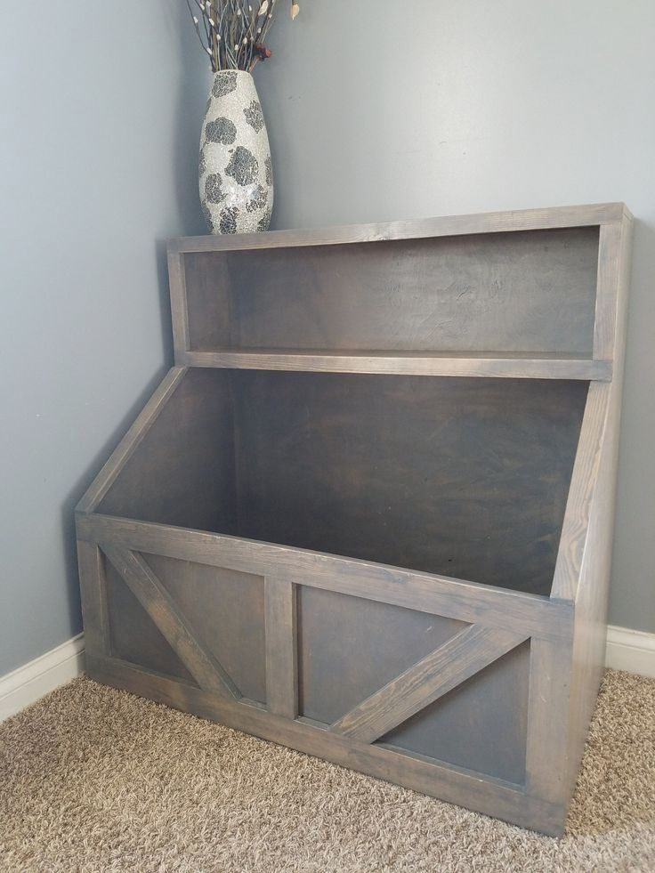 Wood toy chest I Wood storage I toy storage I wood toy bin storage I farmhouse toy bin #toydoll