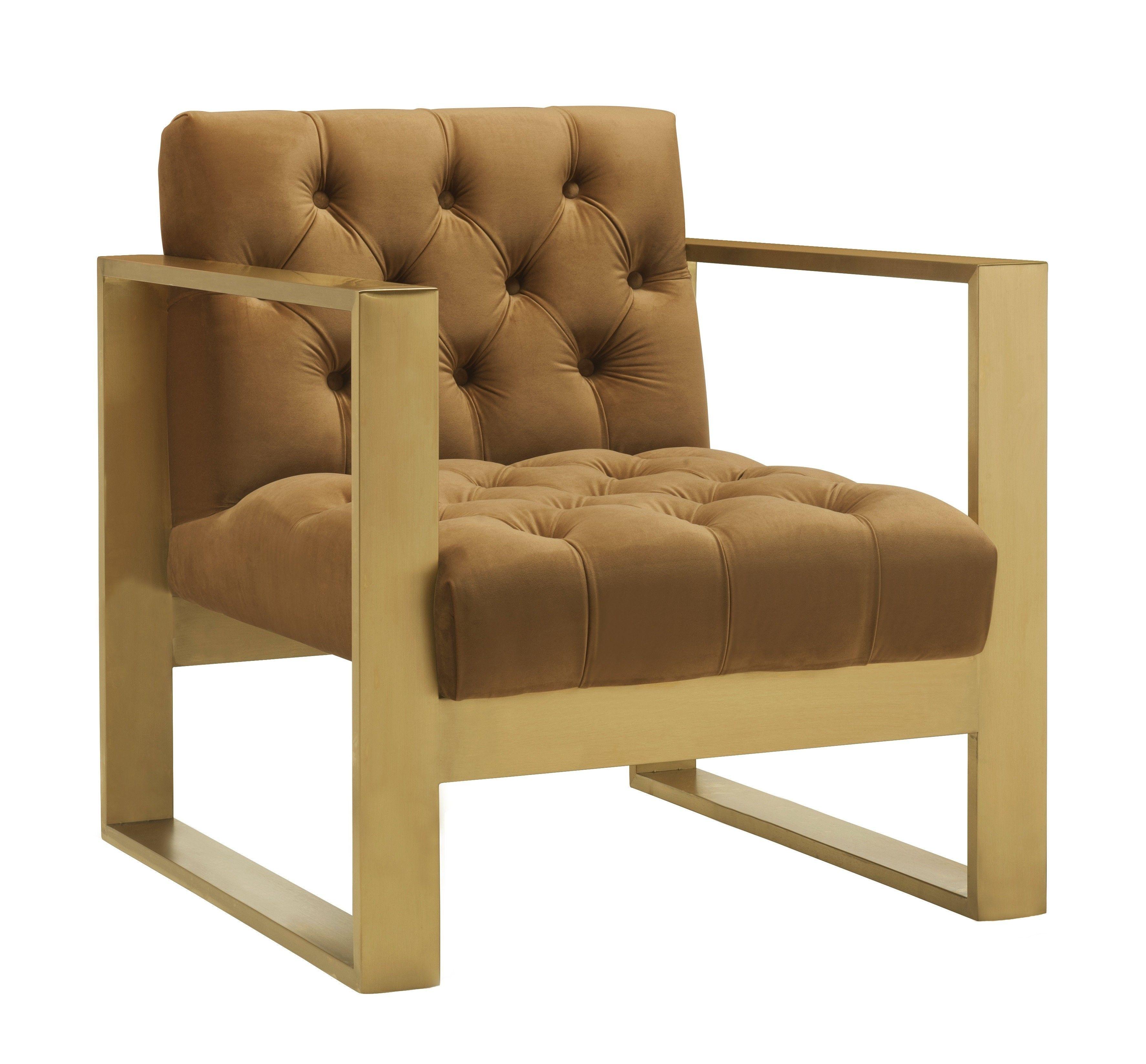 Best Selene Velvet Chair Cognac Gold Lounge Chairs Green 400 x 300