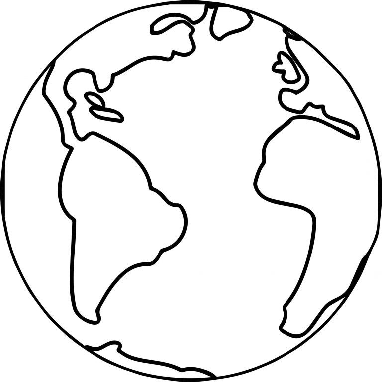 the world coloring pages for kids | Earth Globe World Coloring Page | Primary Chorister ...