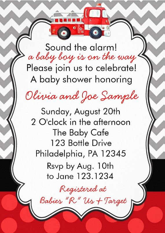 Firetruck baby shower invitation digital file by cutietootieprints firetruck baby shower invitation digital file by cutietootieprints 800 stopboris Image collections