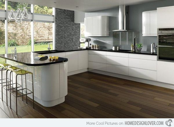 17 White And Simple High Gloss Kitchen Designs Kitchen Layout