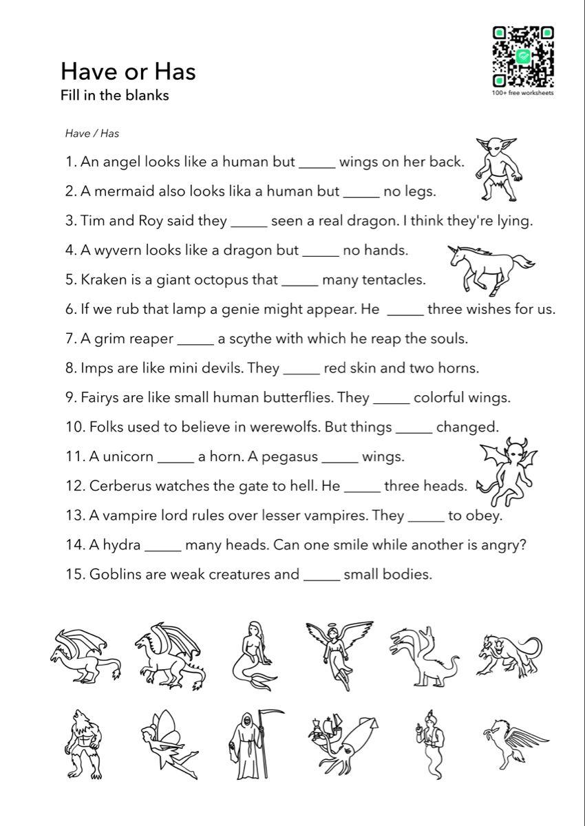 Have Has English Worksheet Printable English Worksheets English Grammar Worksheets Grammar Worksheets [ 1200 x 850 Pixel ]