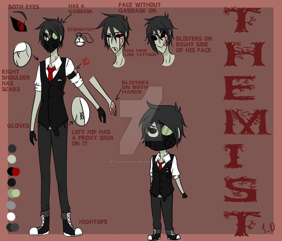 The Mist (Creepypasta oc) *DESIGN REMAKE* by Setsuna-doraibu