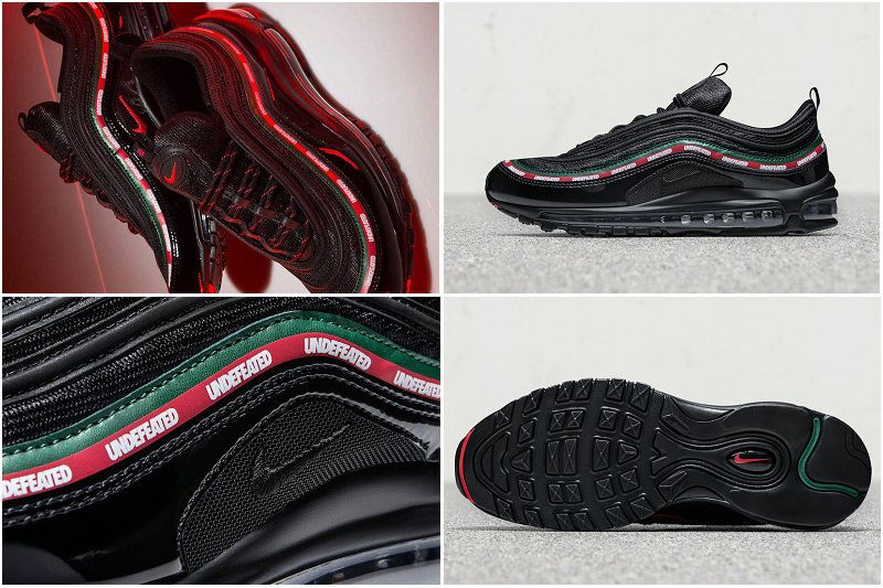 2017 Fall Winter New NIKE Air Max 97 OG UNDFTD Black Gorge Green White  Speed Red