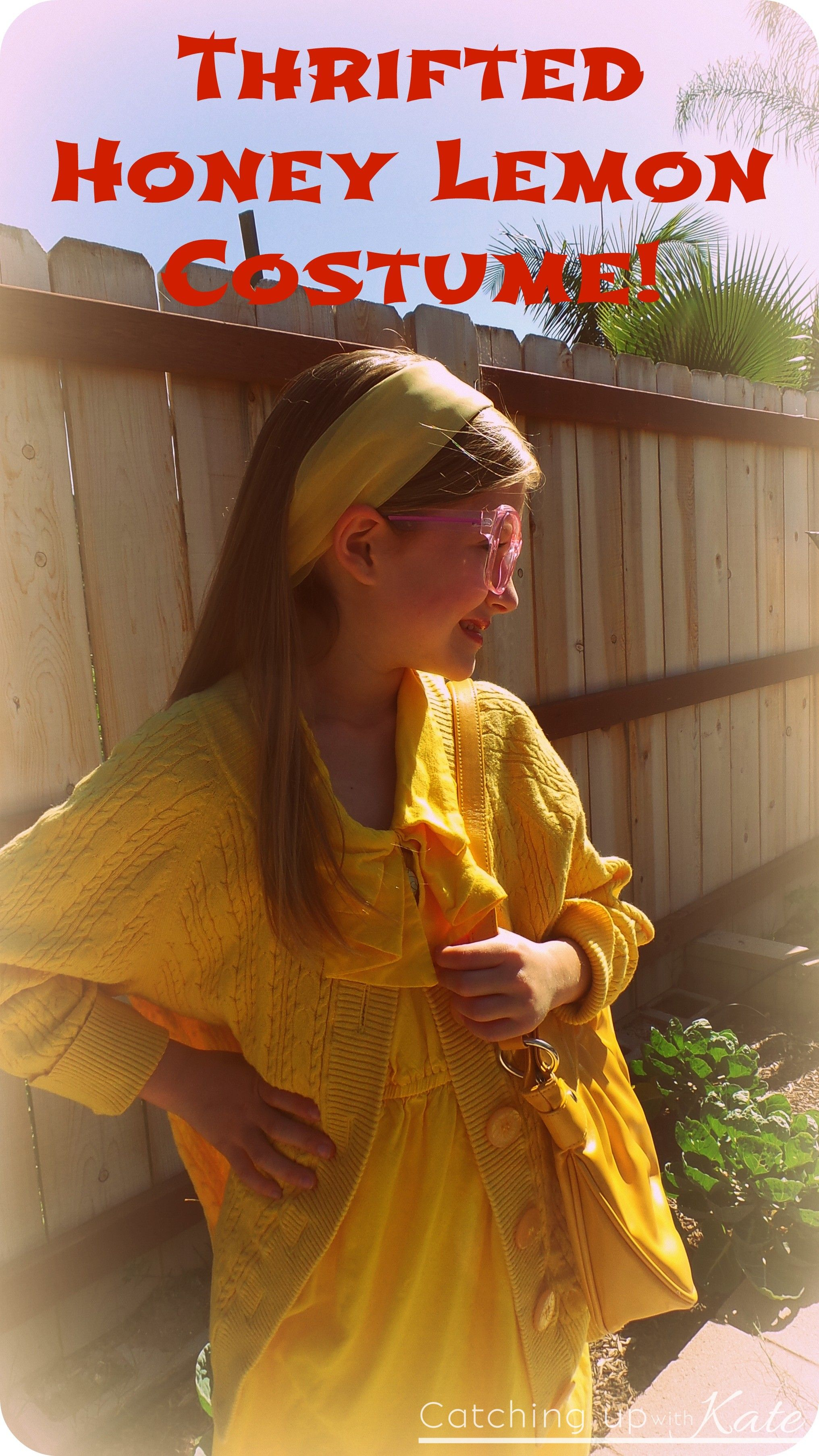 my daughters diy honey lemon costume for super hero day made from thrift store finds perfect