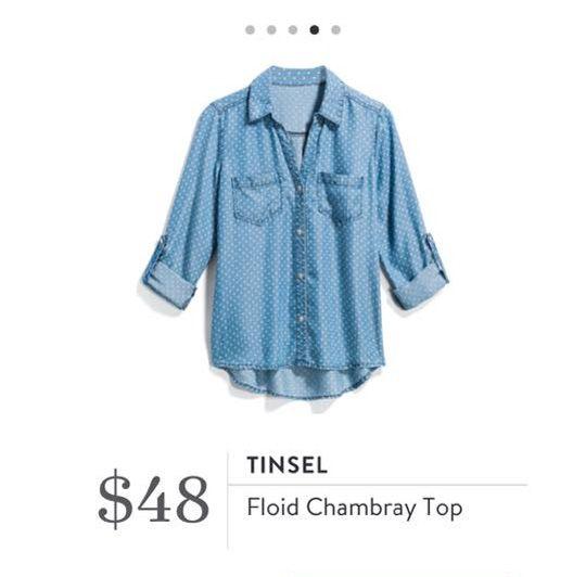78a2c148dd3 Stitch Fix  Tinsel Floid Chambray Top  48