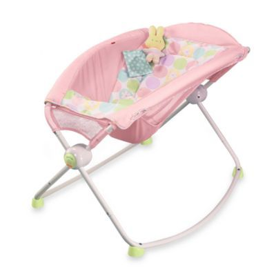 Newborn Rock N Play Sleeper In Pink Daisies From Fisher Price