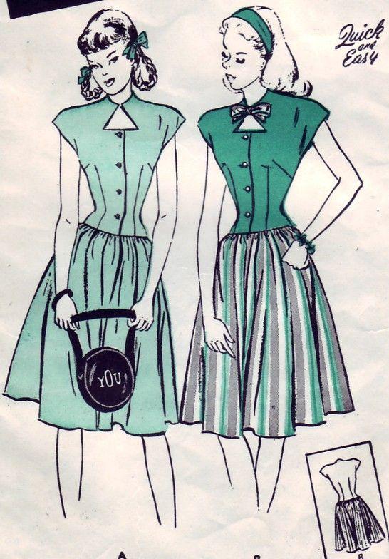 Jahrgang 1946 Butterick 3729 Sewing Pattern von SewUniqueClassique