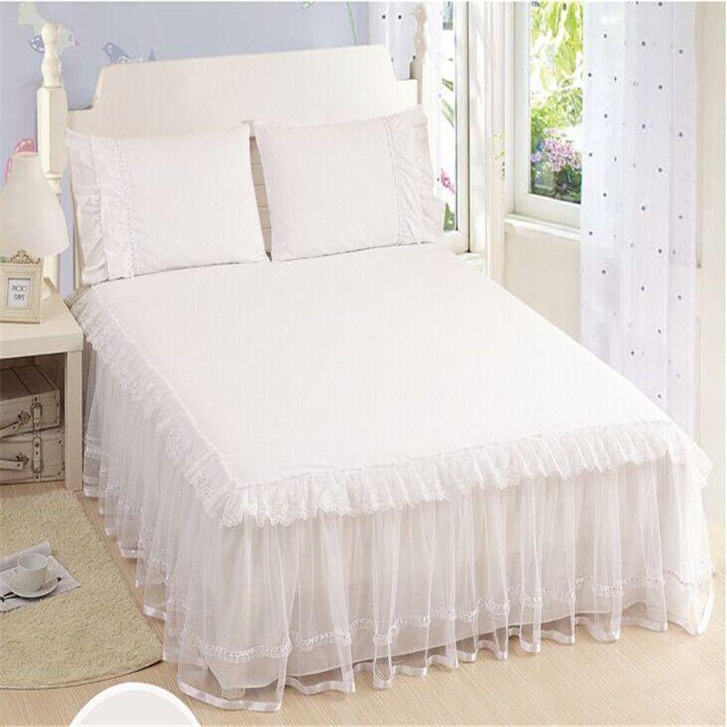 couvre lit alibaba Jupe de Lit en dentelle princesse rustique dentelle 1 pcs lit jupe  couvre lit alibaba