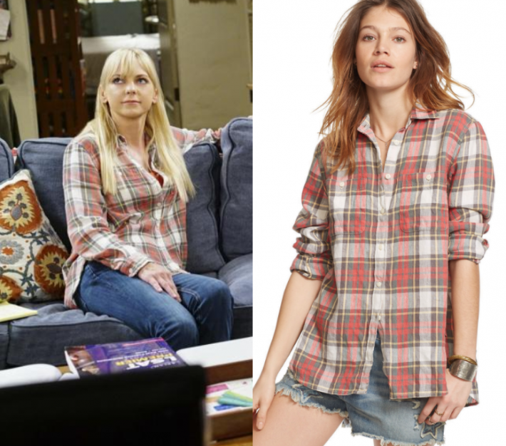 27eaca7d71 Christy Plunkett (Anna Faris) wears this plaid button front button down  shirt in this