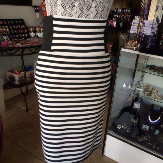 Spandex fitting skirt.