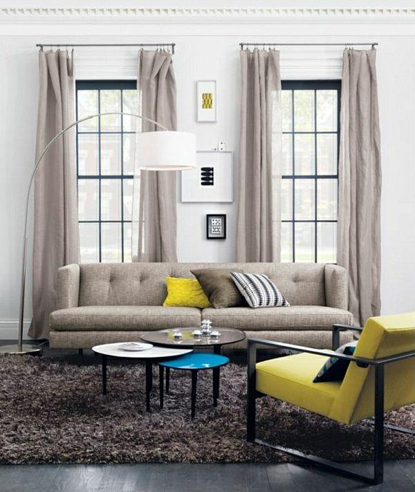 Les rideaux en lin naturel simbolisent le confort et l'élégance à