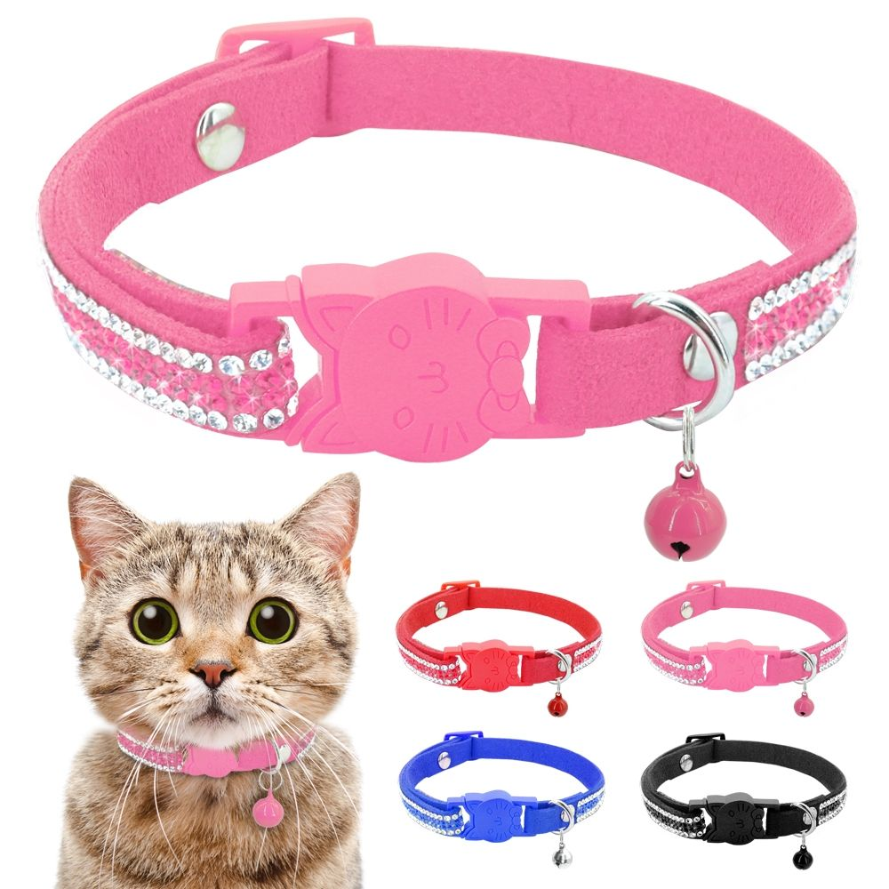 Cat Collar Crystal Cats Accessories Pets Dog Quick Release