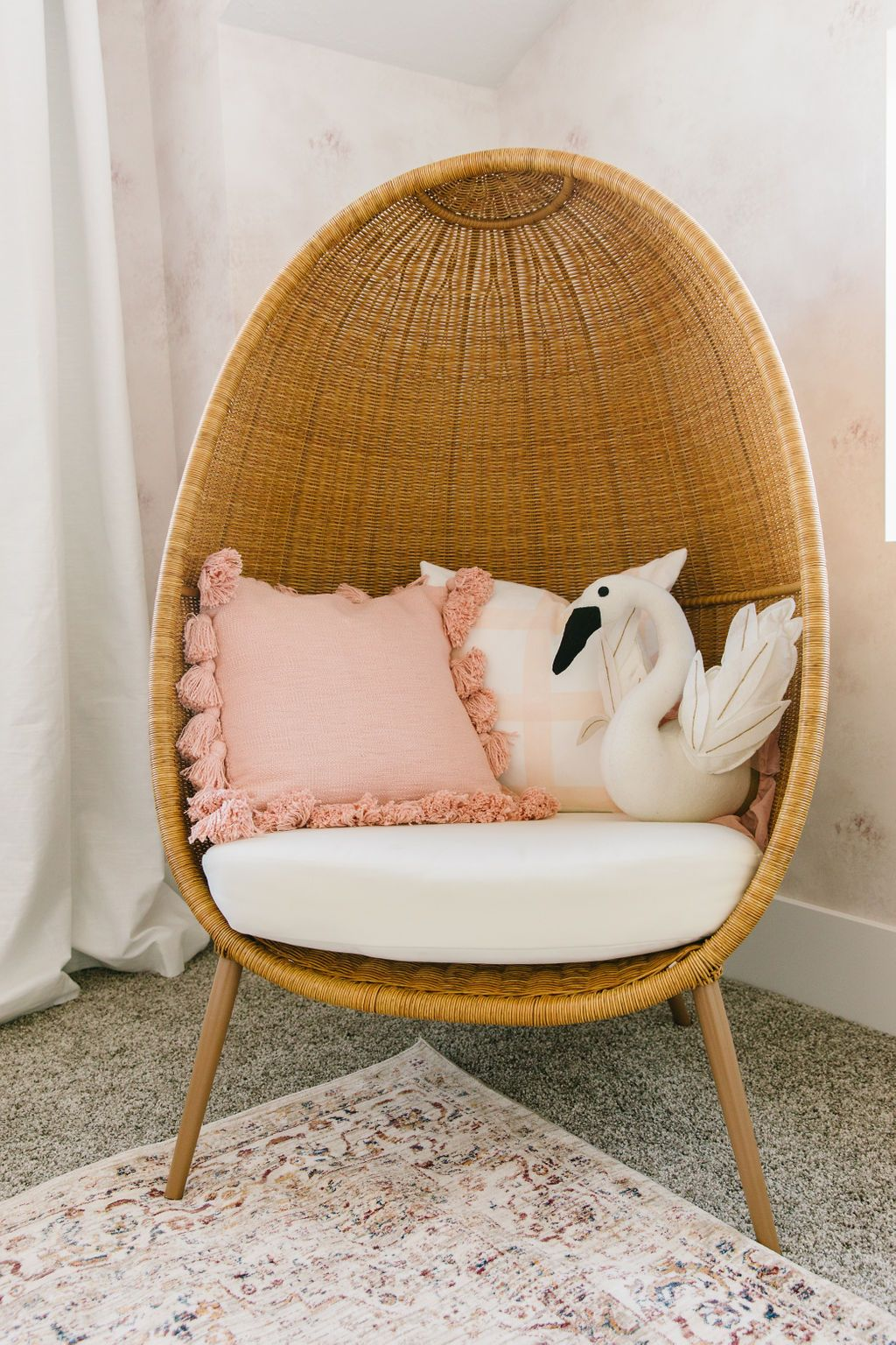 Pretty Pink Girl's Room Reveal - Stagg Design | Pink girl room