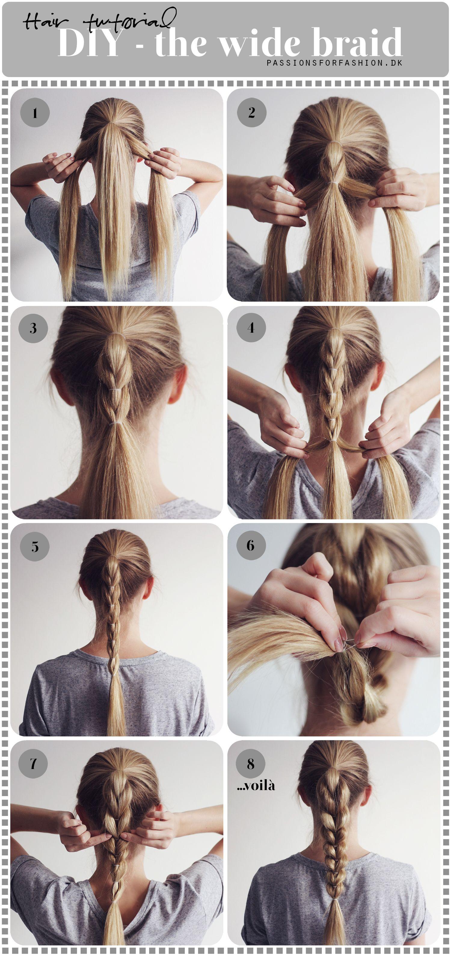 Diy the wide braid christina dueholm stylinu pinterest hair