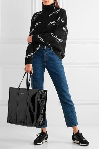 Balenciaga Race Runner metallic leather, mesh and neoprene