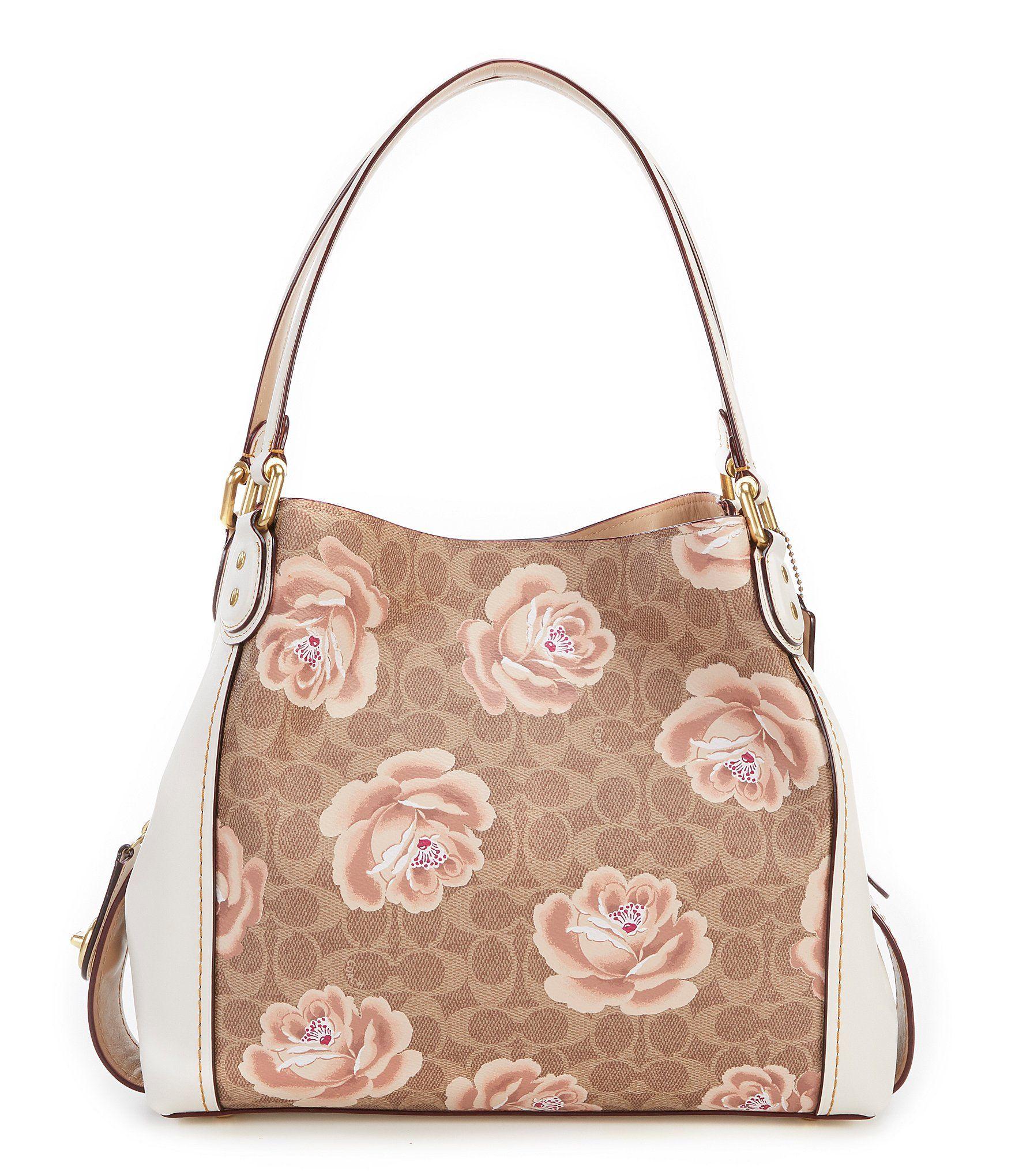 37b528d22f696a COACH EDIE 31 SIGNATURE ROSE PRINT SHOULDER BAG #Dillards | Purse in ...