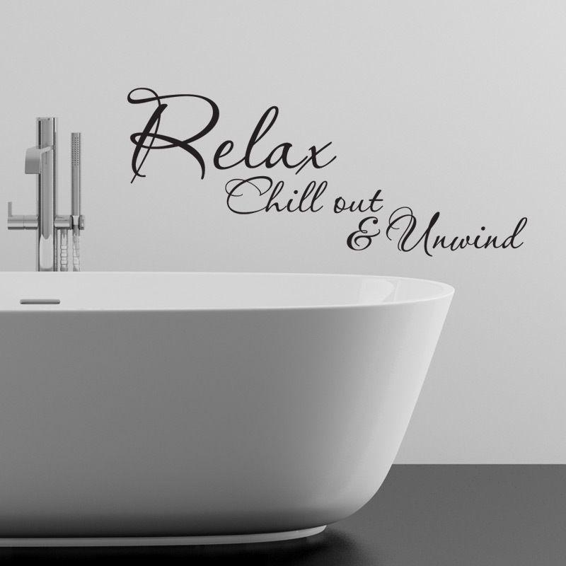 RELAX CHILLOUT UNWIND BATHROOM WALL STICKER VINYL