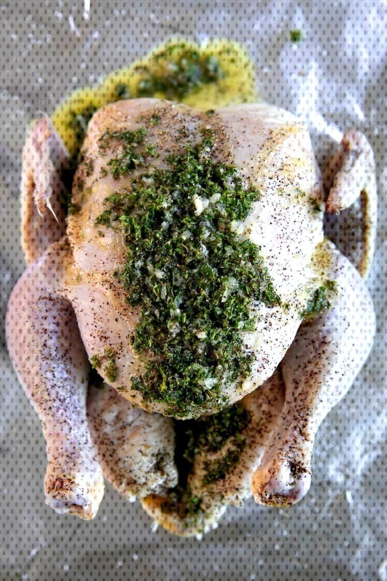 Garlic Herb Butter Roast Chicken (How to Roast Chicken) - Chickens -