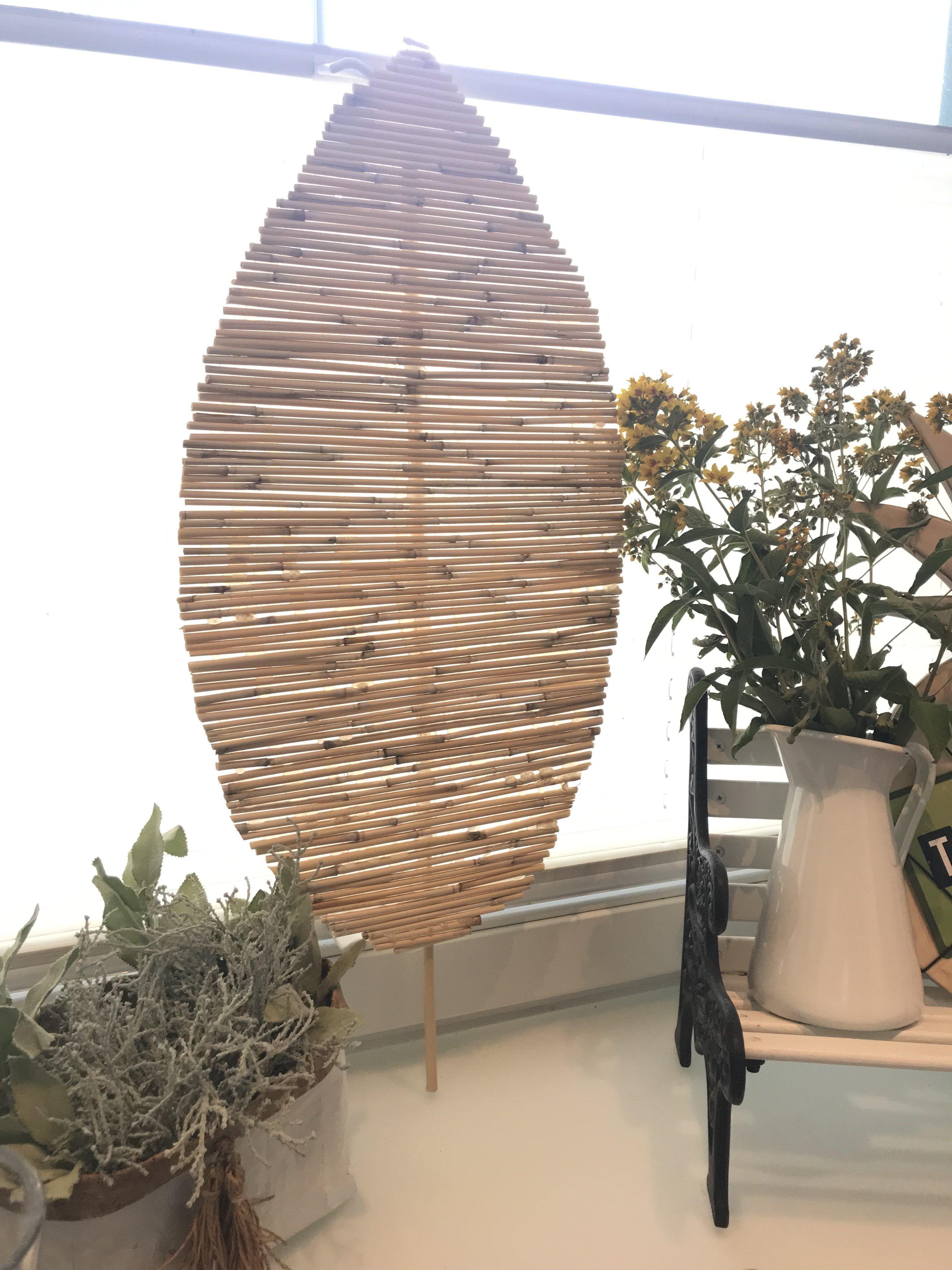 Diy Bambusdeko Ein Dekoblatt Aus Bambus Basteln Diy Sachen