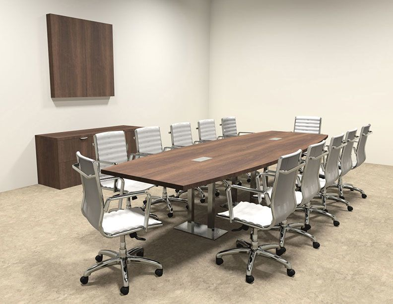 Modern Boat Shaped Steel Leg 12 Feet Conference Table Of Con Cm23 With Images Table Conference Table Modern Conference Table