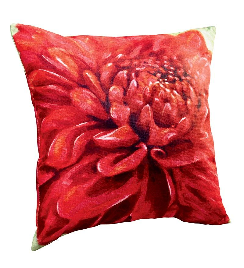 All-Weather Outdoor Flower Throw Pillow - Plow & Hearth