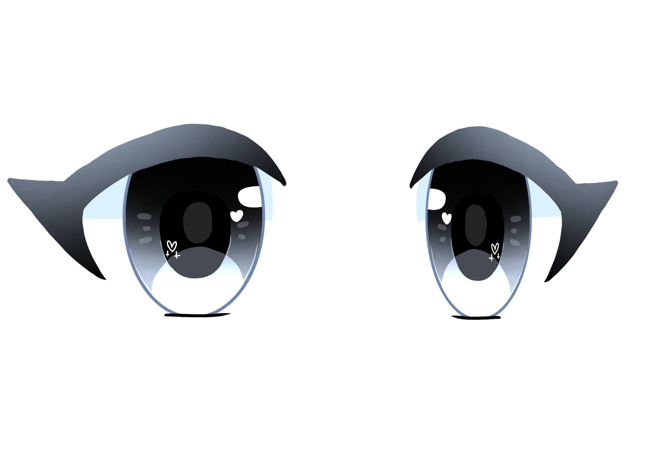 Freetoedit Gachalife Eyes Blue Cute Bored Remixit Cute Eyes Drawing Anime Eye Drawing Chibi Eyes