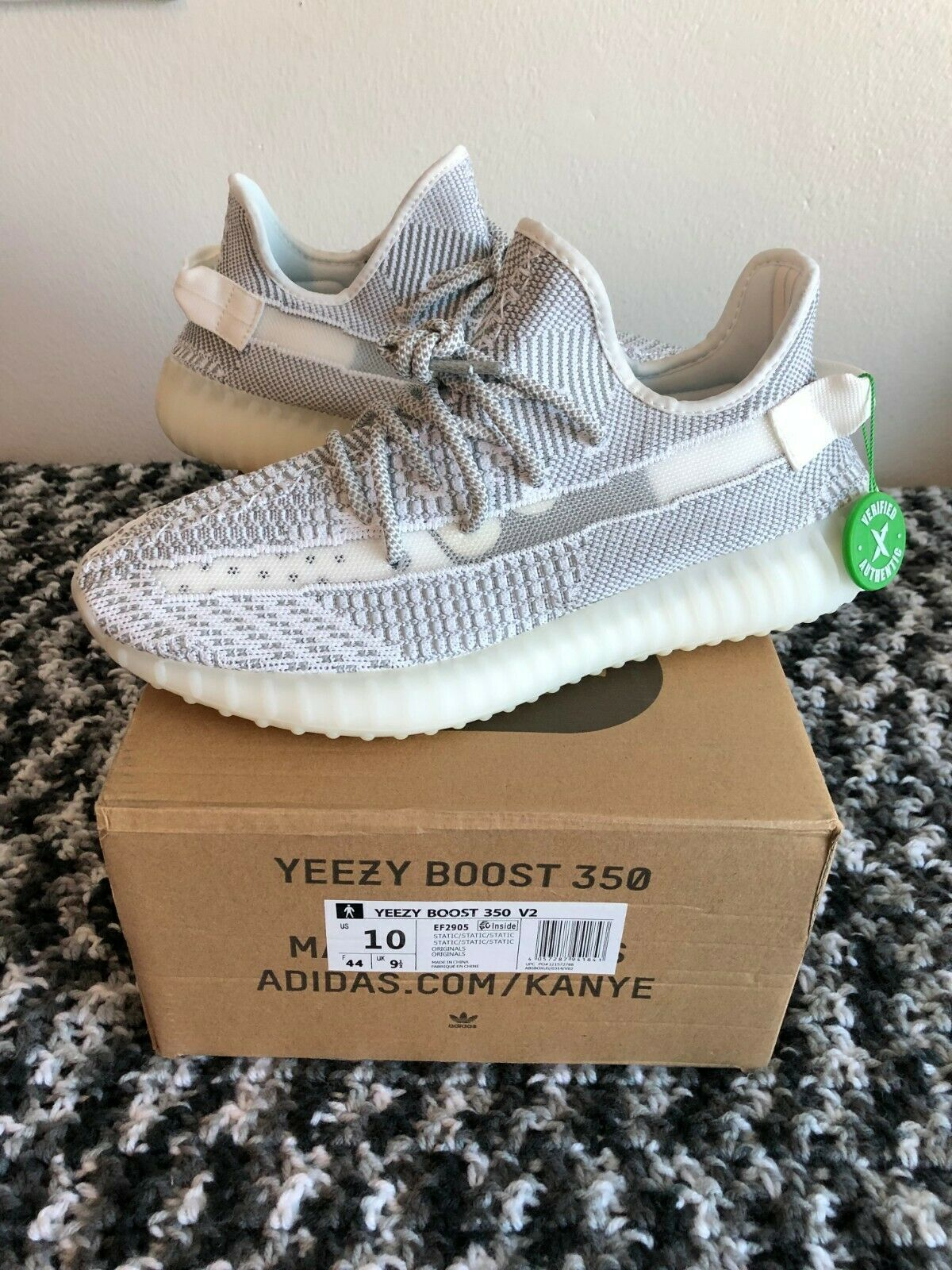 Yeezy Boost 350 V2 Static Reflective Size 10 with Original