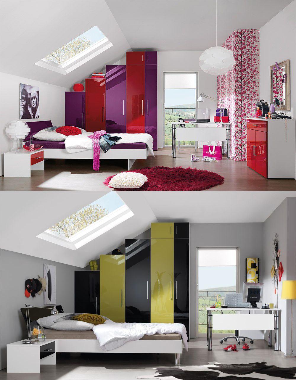 Jw von wellem bel jugendzimmer rot lila schrank und for Jugendzimmer hochwertig