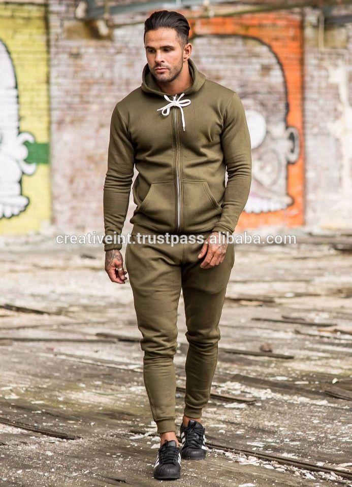 fba21198c Blank tracksuit for men/Full plain sweatsuit/Fine quality fleece tracksuit