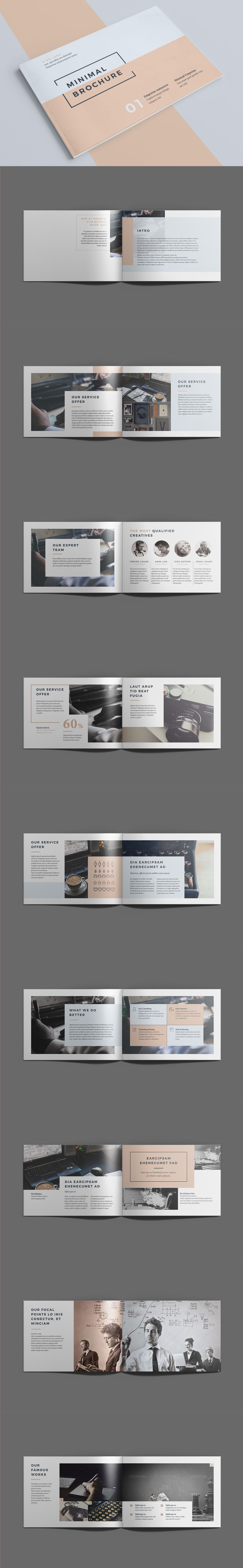Minimal Brochure 18 pages A5 Template InDesign INDD | design ...