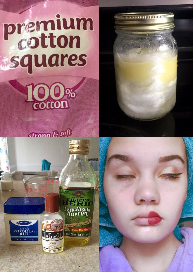 Homemade makeup remover wipes 1) place cotton squares