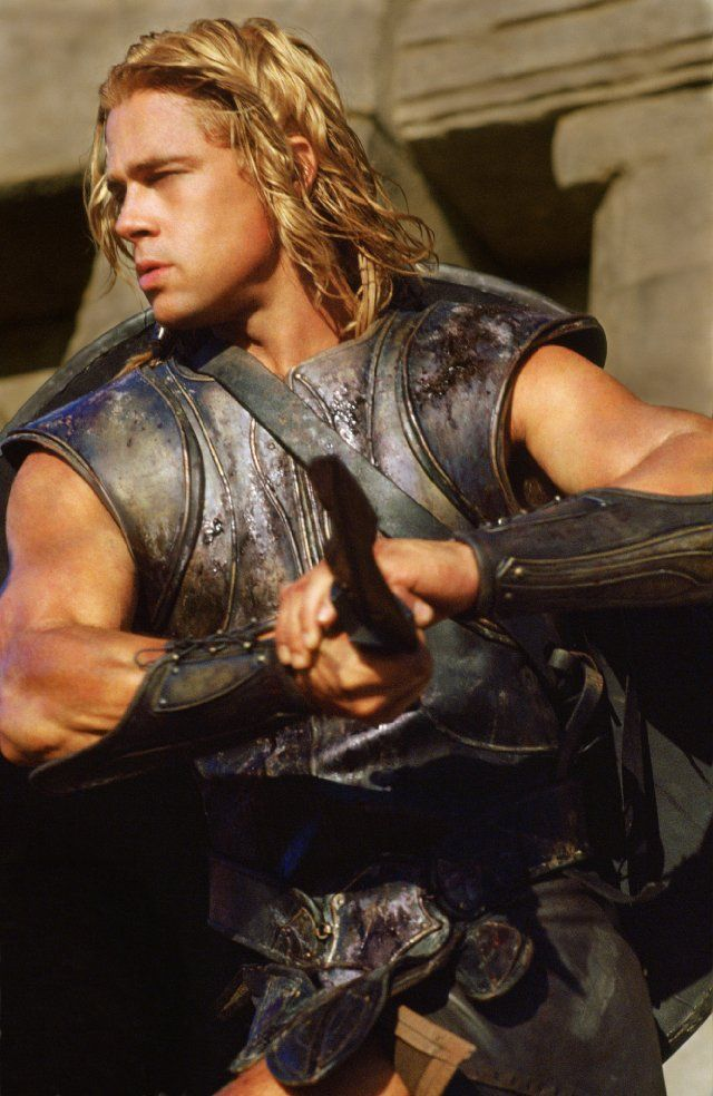 Still of Brad Pitt in Troy...inspiration for my character ... Achilles Brad Pitt Hair