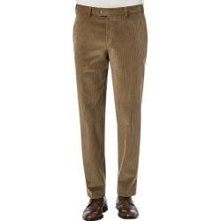 Photo of Hiltl men's trousers Chino Parma, regular fit, cord, caramel brown Hiltl