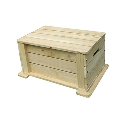 Kids Toy Chest in Unfinished Wood