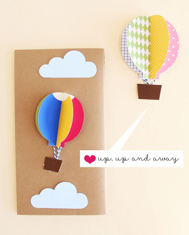 Pin By Alex Tim On Card Ideas Diy Hot Air Balloons Card Craft Balloons
