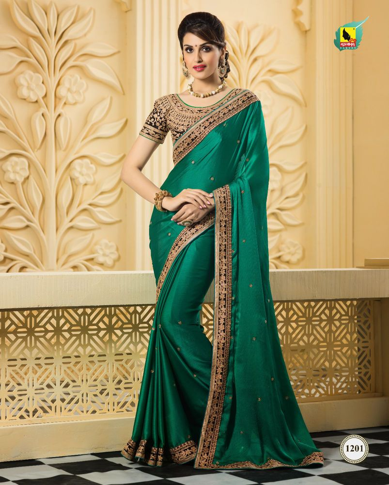 d9d0e3a5bdb5 Designer Ethnic Traditional Sari Pakistani Indian Wedding Party Saree  Bollywood…