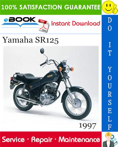 1997 Yamaha Sr125 Motorcycle Service Repair Manual Repair Manuals Yamaha Repair