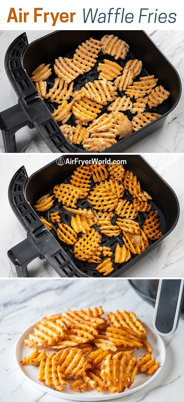 Air Fried Frozen Waffle Fries in Air Fryer TIME, TEMP