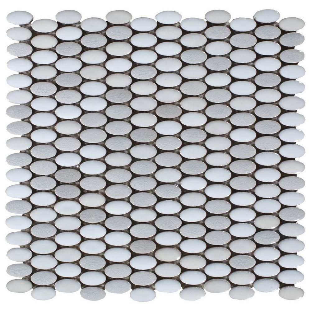 abalone ellipse ceramic mosaic - 12in. x 12in. - 100243120 | floor