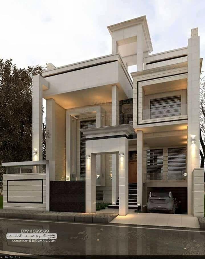 Pin By Deepak Rangaiah On Fachadas Modern House Design Modern Exterior House Designs Classic House Design