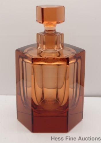 Art Deco Moser perfume bottle.