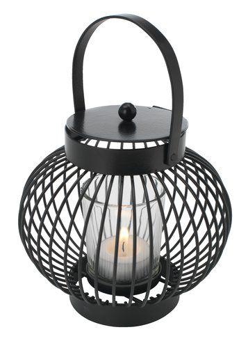 Latarnia Brumbasse Stal Szklo Jysk Glass Steel Lanterns