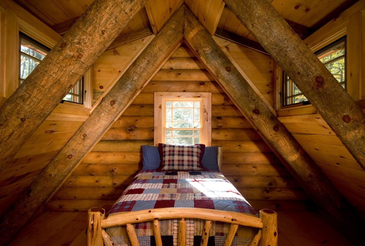 Log cabin loft bedroom  Pin by Gerald King on Log cabins  Pinterest  Log cabins Cabin and