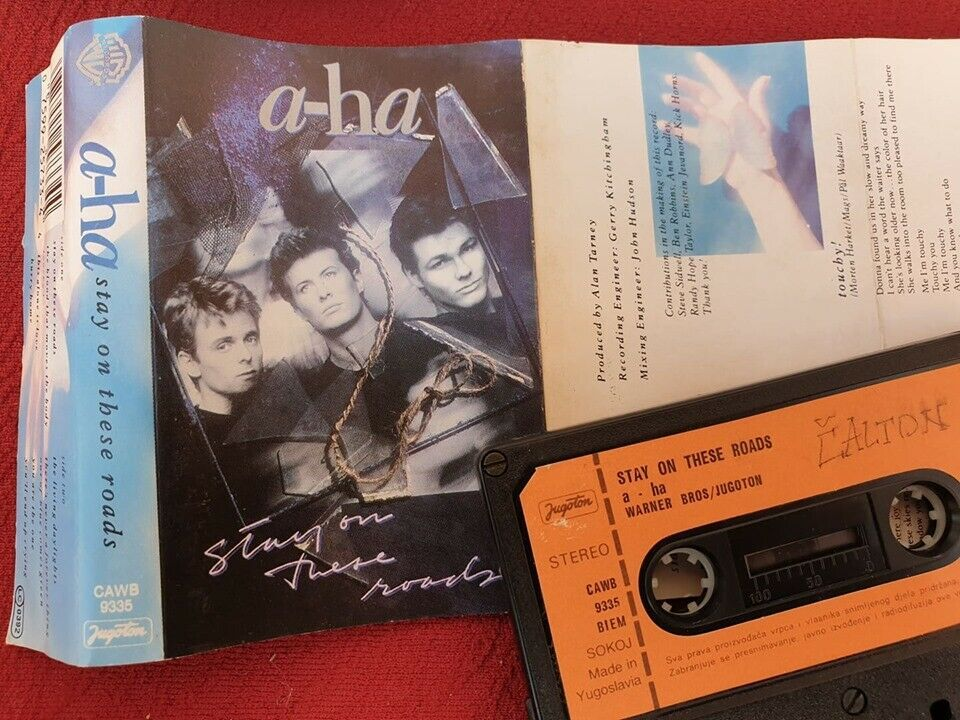 A Ha Stay On These Roads 1988 Yugoslavia Original Cassette Tape
