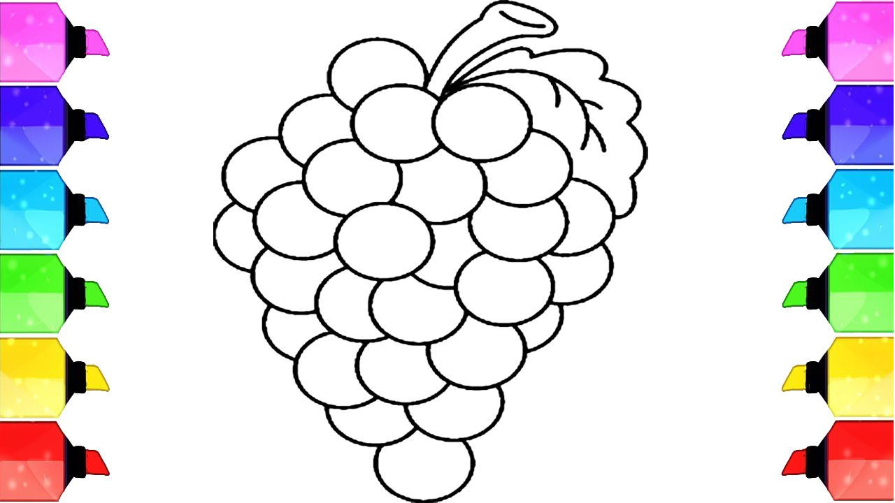 How To Draw Grape How To Draw Grapes Coloring Pages Drawing
