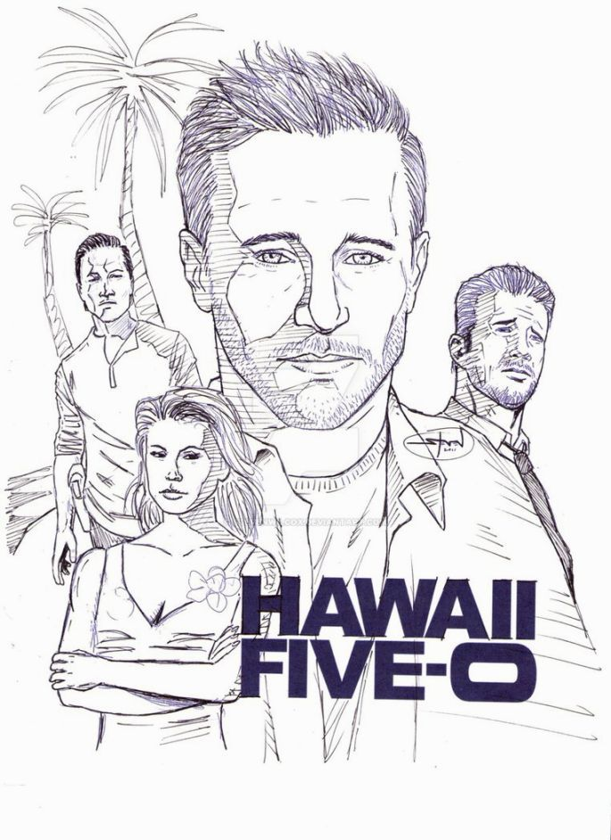 Hawaii Five O Coloring Pages