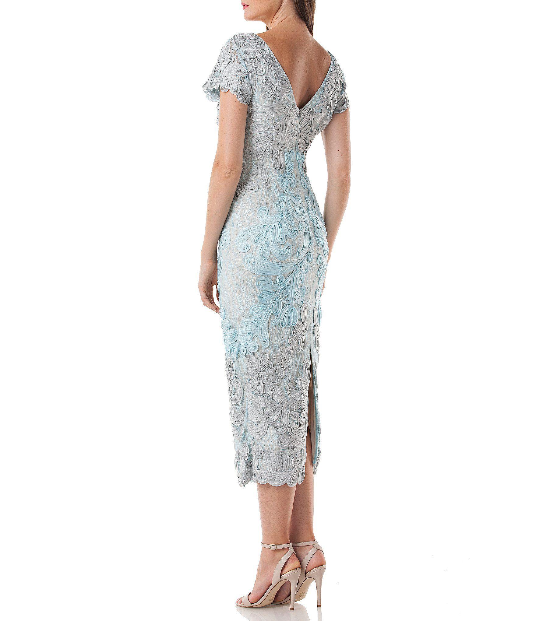 Wedding dresses dillards  JS Collections Soutache Overlay Midi Dress  ВЕЧЕРНИЕ ПЛАТЬЯ