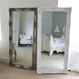 Image of Silver Decorative Full Length Dressing Mirror bedroom